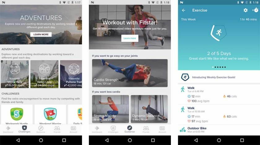Fitness trackers and manufacturer apps